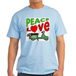 Peace Love Motor Scooter Light T-Shirt