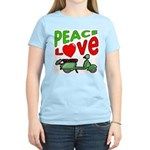 Peace Love Motor Scooter Women's Light T-Shirt