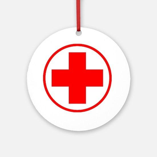 medic2 copy Round Ornament
