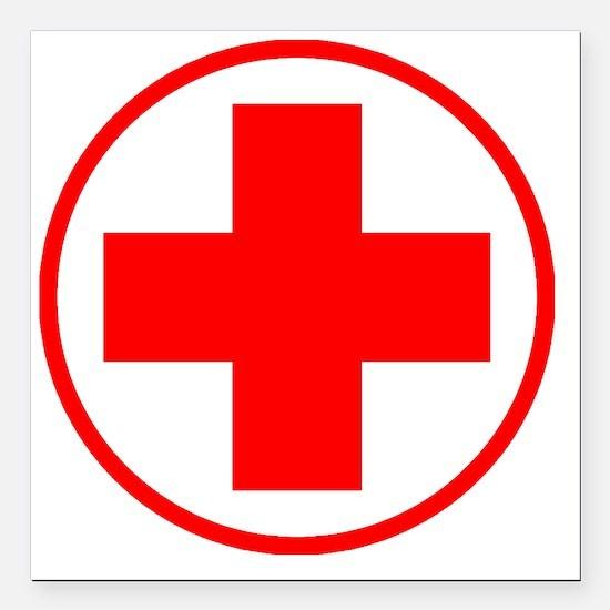 "medic2 copy Square Car Magnet 3"" x 3"""