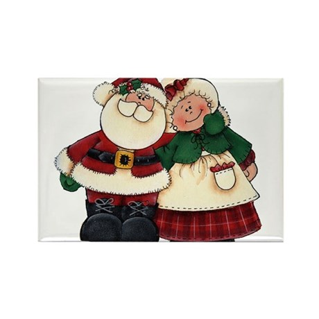 Mr. & Mrs. Claus Rectangle Magnet (100 pack)