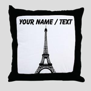 Custom Eiffel Tower Throw Pillow