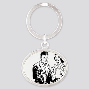 Stood Up Oval Keychain