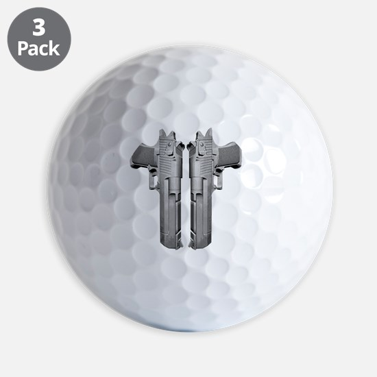 deserteagle_blk Golf Ball