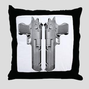 deserteagle_blk Throw Pillow