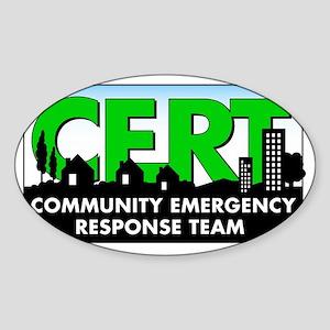 20111004 - CERT Sticker (Oval)
