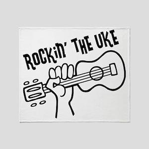 Rockin Uke 2, Surfer Throw Blanket