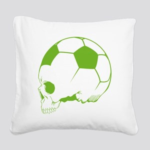SkullSportsoccer3 Square Canvas Pillow