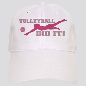 Volleyball Dig It pink Cap