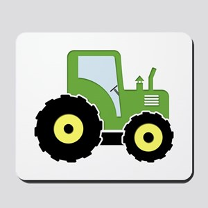 Green toy tractor Mousepad