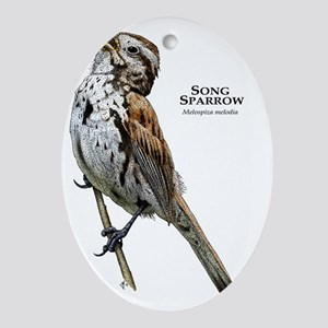 Song Sparrow Oval Ornament
