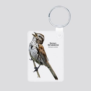 Song Sparrow Aluminum Photo Keychain