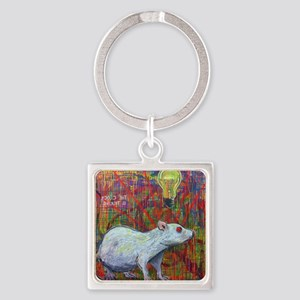The Clock Is Ticking Square Keychain