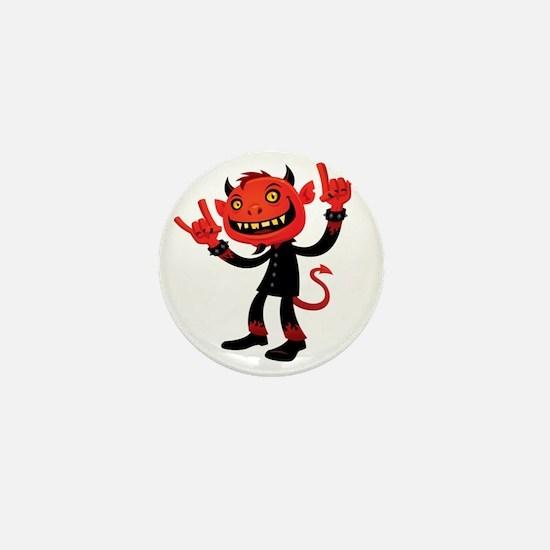 Heavy Metal Devil Mini Button