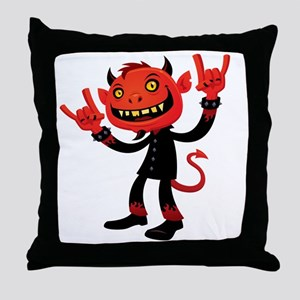 Heavy Metal Devil Throw Pillow
