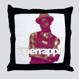 phife_dawg_superrappin-cover_logreen- Throw Pillow
