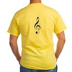 Traditional Basic Black Note Yellow T-Shirt