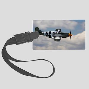 P 51 Mustang Large Luggage Tag