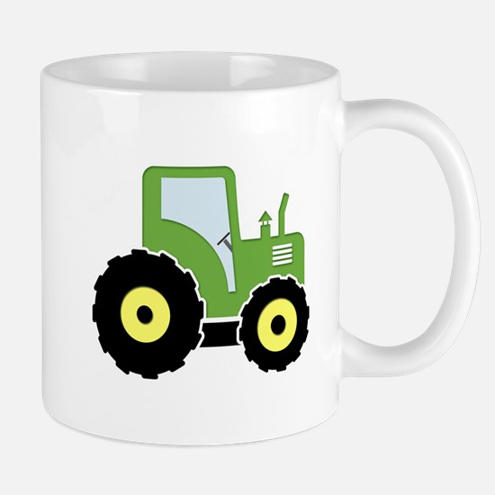 Green toy tractor Mugs