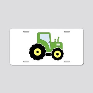 Green toy tractor Aluminum License Plate