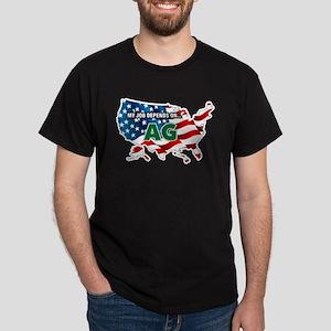 My Job Depends on Ag USA T-Shirt