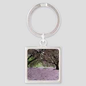 FallenCherryBlossomsMP Square Keychain