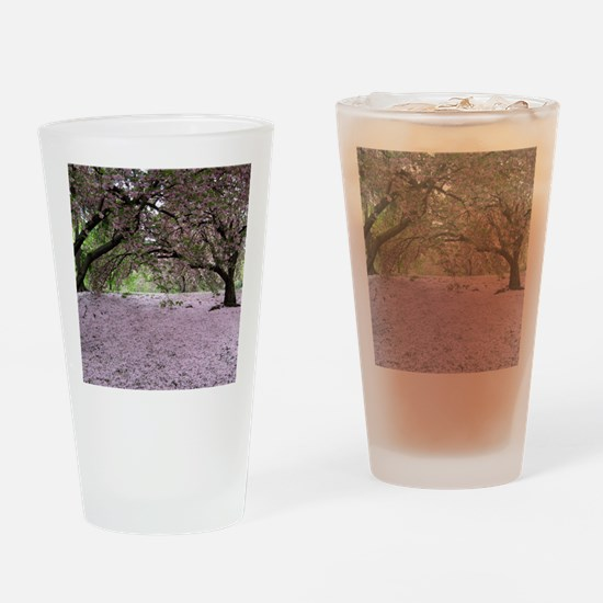 FallenCherryBlossomsMP Drinking Glass