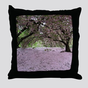 FallenCherryBlossomsMP Throw Pillow