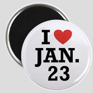 I Heart January 23 Magnet