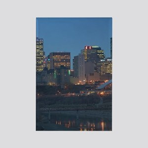 Edmonton: Downtown Skyline / Even Rectangle Magnet