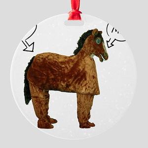 horsetshirt Round Ornament