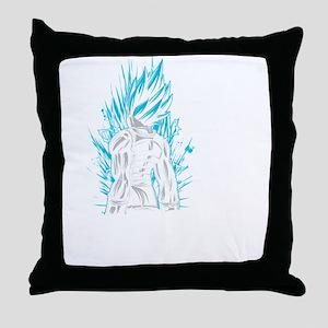 SUPER SAIYAN VEGETA GOD BLUE LIVING I Throw Pillow