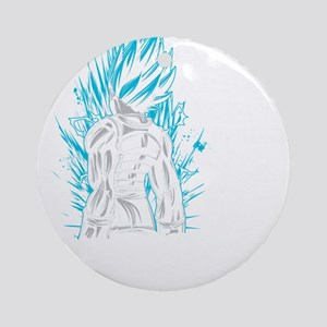 SUPER SAIYAN VEGETA GOD BLUE LIVING Round Ornament