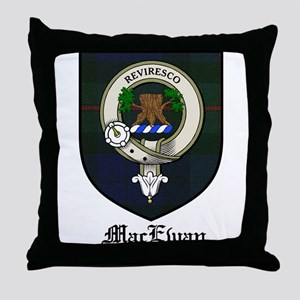 MacEwan Clan Crest Tartan Throw Pillow