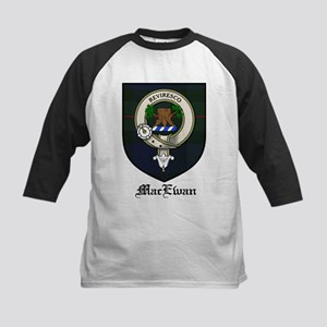 MacEwan Clan Crest Tartan Kids Baseball Jersey