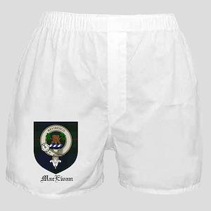MacEwan Clan Crest Tartan Boxer Shorts