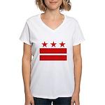 3 Stars 2 Bars Women's V-Neck T-Shirt