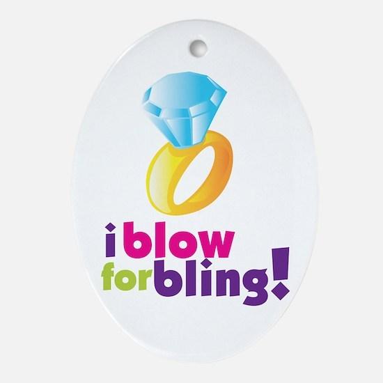 Funny Blowjob Oval Ornament
