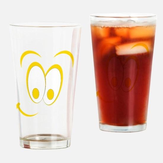 Cartoon Smile Yellow Drinking Glass