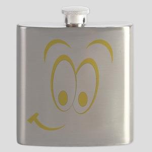 Cartoon Smile Yellow Flask