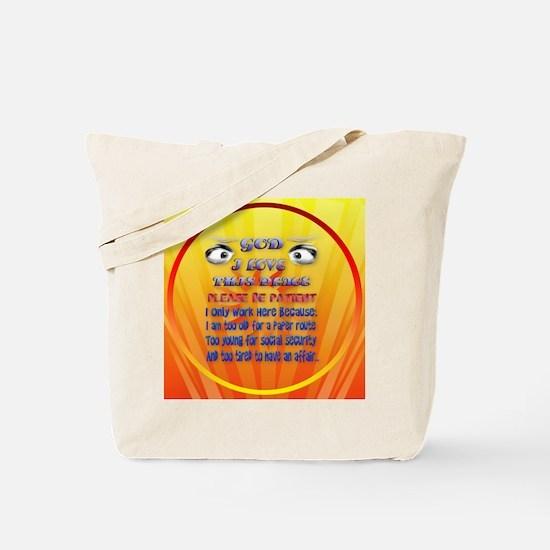 God-I Love This Place-circle2 Tote Bag