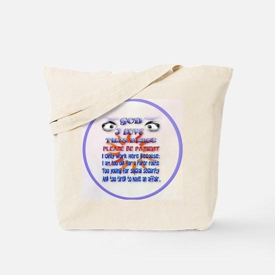 God-I Love This Place-circle Tote Bag