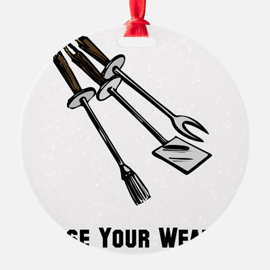 Choose Grill Weapon Black ONLY Ornament