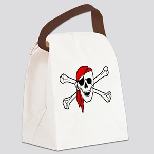 To Arr Is Pirate Adult White Canvas Lunch Bag