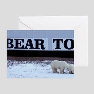Churchill. Polar bear mother and cub Greeting Card
