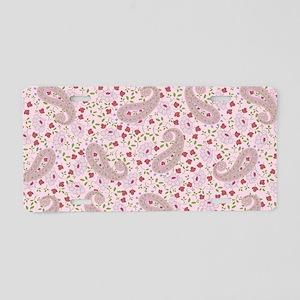 PinkPaisleyShoulderBag Aluminum License Plate