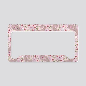 PinkPaisleyShoulderBag License Plate Holder