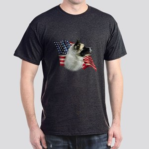 Akita Flag Dark T-Shirt
