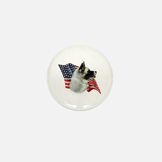 Akita Flag Mini Button