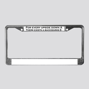 proof License Plate Frame